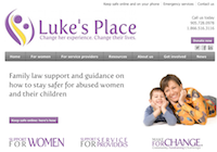 Luke's Place website homepage
